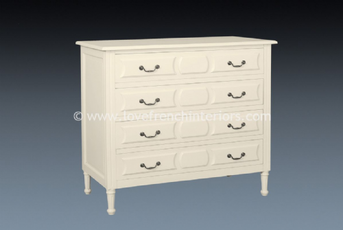 Isabelle Four Drawer Chest in Antique White
